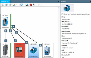 The PROmanage NT V2 software records your networks topology automatically and displays all device information for a clear overview of your network