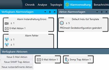 PROmanage NT V2 alarm management screen